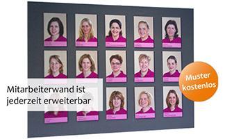 Magnet fotowand individuelle fotowand online gestalten - Mitarbeiter fotowand ...