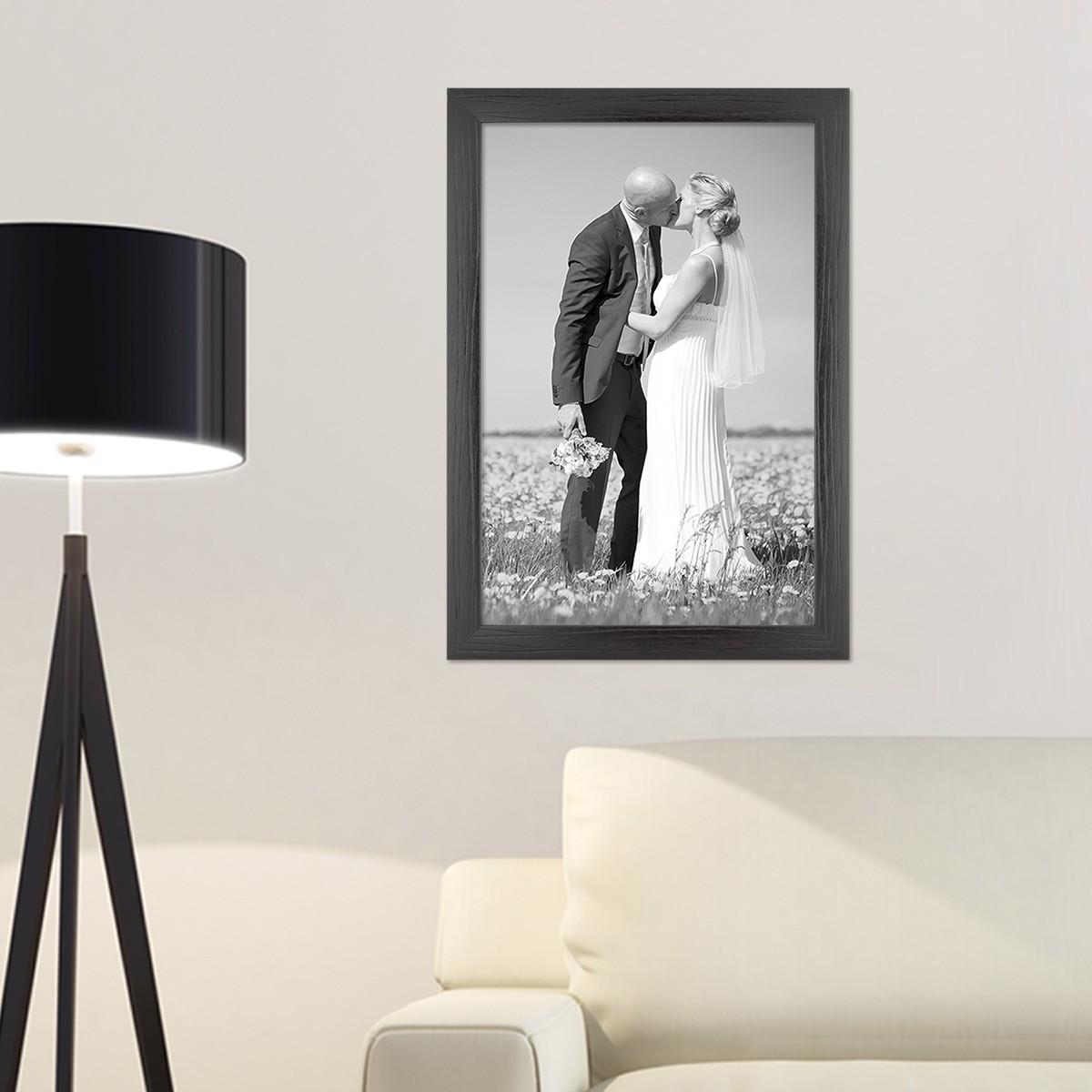 bilderrahmen modern maserung holz schwarz wei foto rahmen. Black Bedroom Furniture Sets. Home Design Ideas