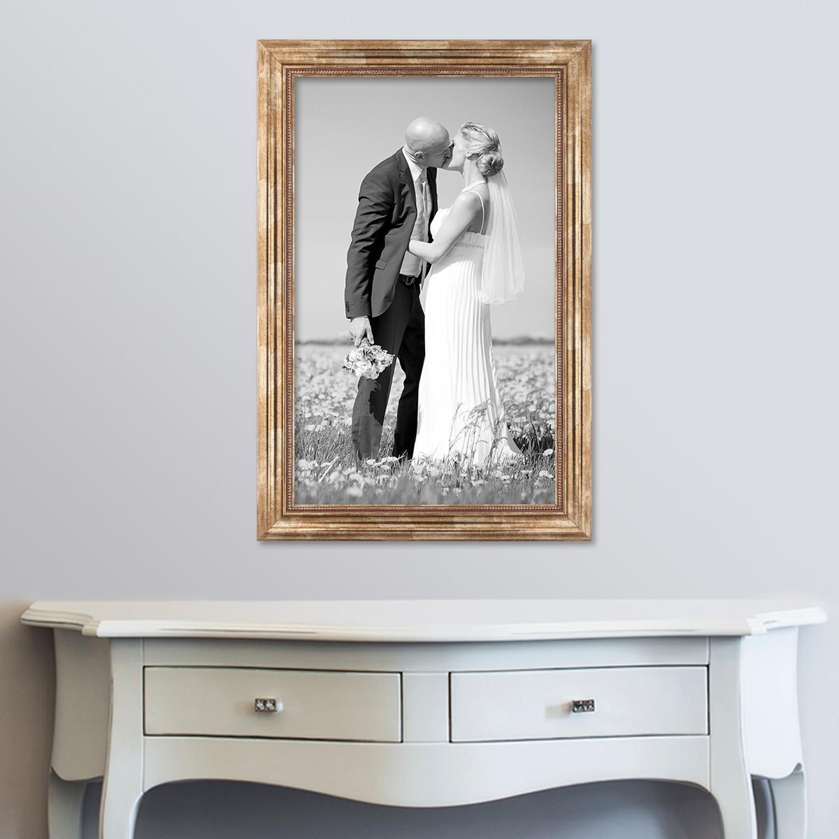 bilderrahmen landhaus barock breit vintage holz gold silber braun weiss rahmen ebay. Black Bedroom Furniture Sets. Home Design Ideas