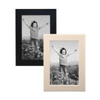 10er set bilderrahmen 10x15 cm modern schwarz wei massivholz fotorahmen ebay. Black Bedroom Furniture Sets. Home Design Ideas