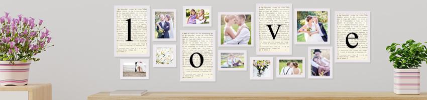 Hochzeits Geschenke Bilderrahmen Hochzeitsrahmen Photolini