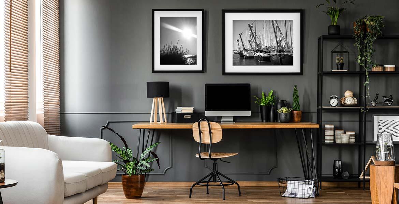 Das Arbeitszimmer Einrichten Mit Bilderrahmen