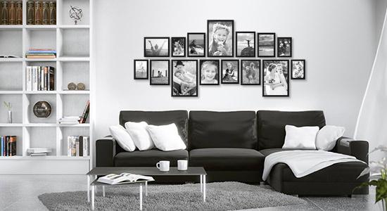 Kreative Wandgestaltung im Wohnzimmer mit PHOTOLINI