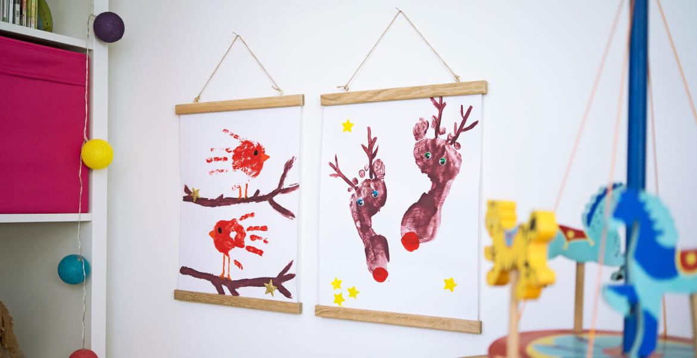 Weihnachtliche Bastelideen Für Kinder Diy Poster
