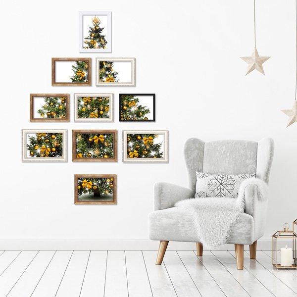 Originelle bastelideen f r die weihnachtsdekoration - Anordnung bilderrahmen ...