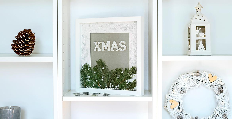 Diy Weihnachtsdeko X Mas Rahmen Zum Befullen