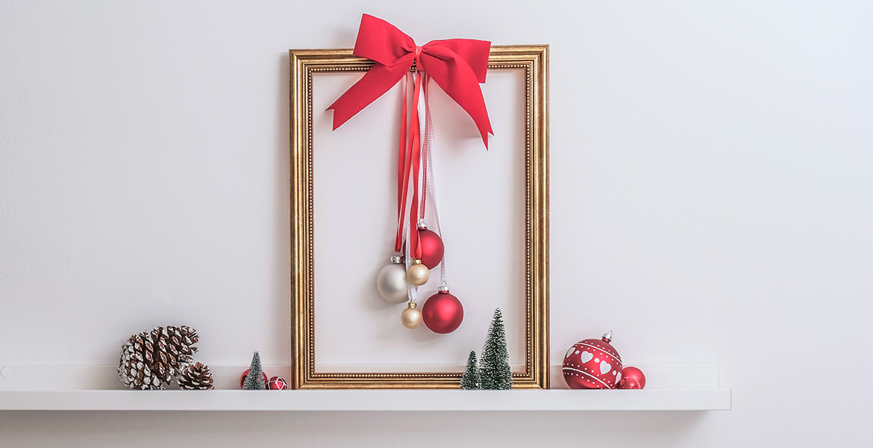 Mit Christbaumkugeln Weihnachtsdeko Basteln