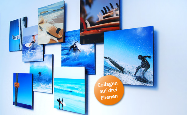 3D Foto-Collage Surfer