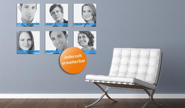 Mitarbeiterwand mitarbeitertafel oder logowand mit magnet for Mitarbeiter fotowand